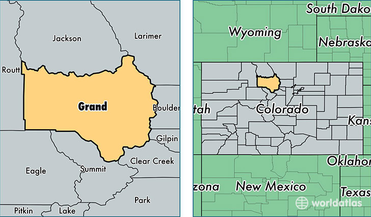 location of Grand county on a map