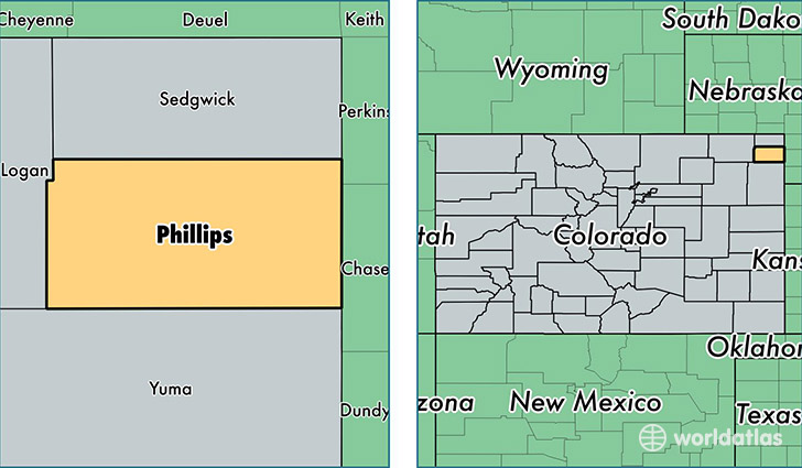 location of Phillips county on a map