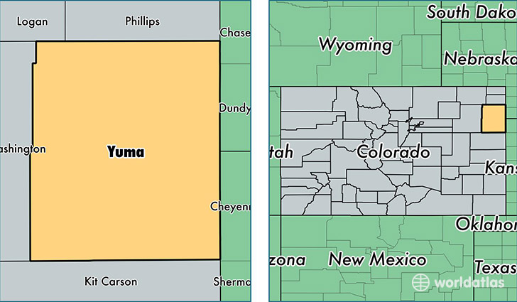 Yuma County, Colorado / Map of Yuma County, CO / Where is Yuma County?