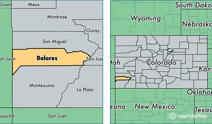 Dolores Colorado Map | My blog
