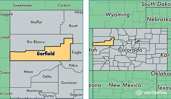 Garfield county colorado map of garfield county co for 6016 area code