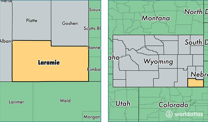 Laramie County Wyoming Map Of Laramie County Wy Where Is - Wyoming-us-map