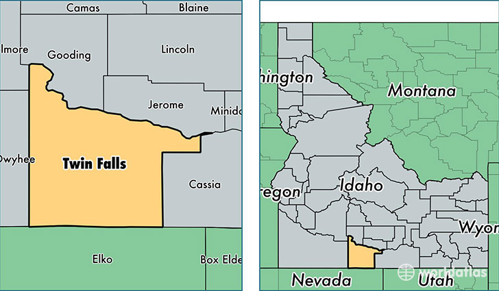 Twin Falls County, Idaho / Map of Twin Falls County, ID / Where is