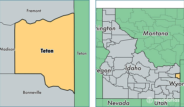 Teton County Idaho Map Of Teton County Id Where Is Teton County