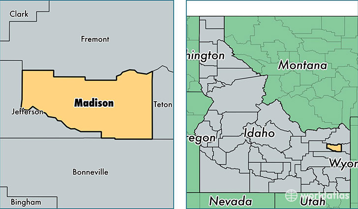Idaho Map By County.Madison County Idaho Map Of Madison County Id Where Is Madison