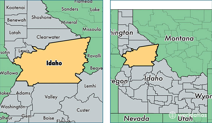 Idaho Map By County.Idaho County Idaho Map Of Idaho County Id Where Is Idaho County