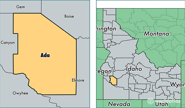 Idaho Map By County.Ada County Idaho Map Of Ada County Id Where Is Ada County