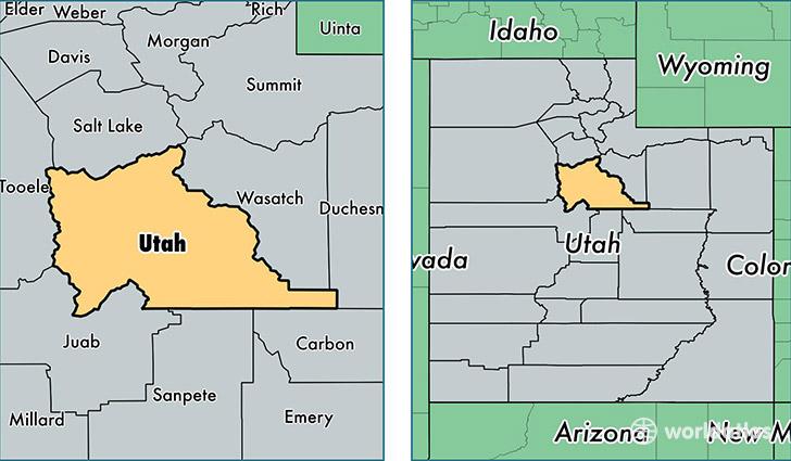 Utah County Utah Map Of Utah County UT Where Is Utah County - Map of utah county