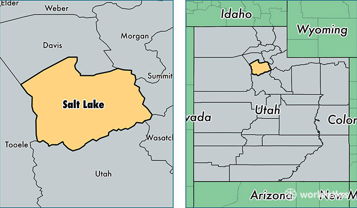 location of Salt Lake county on a map