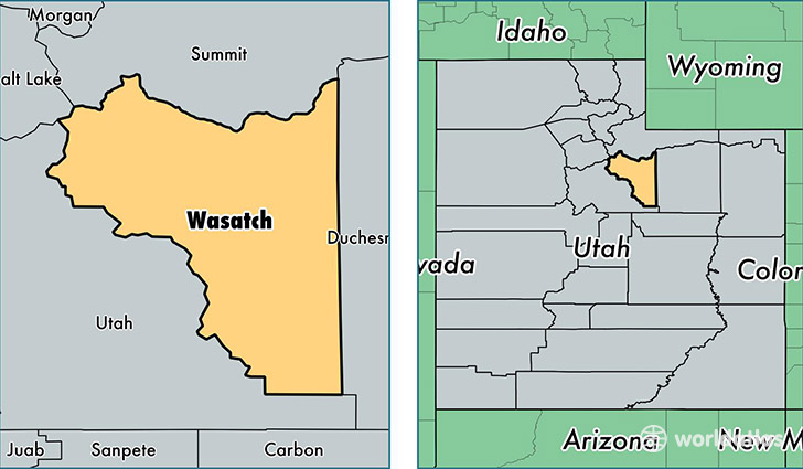 location of Wasatch county on a map