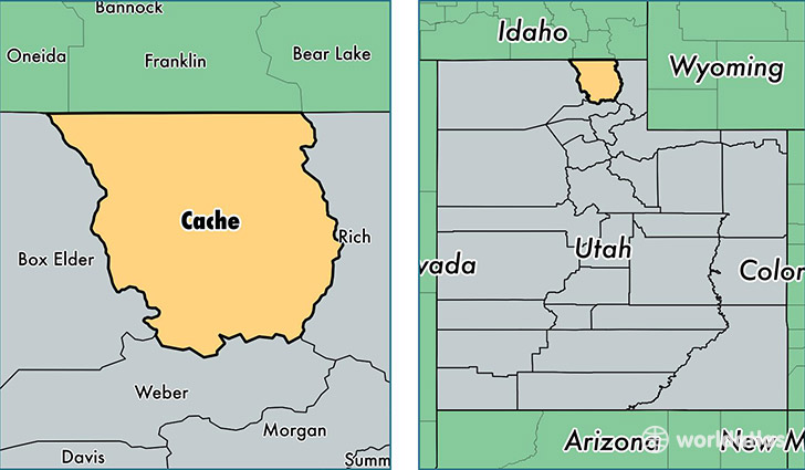 Cache County, Utah / Map of Cache County, UT / Where is Cache County?