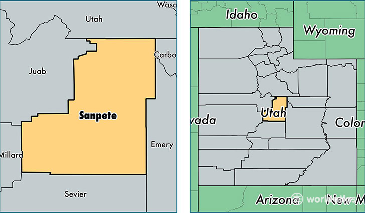 Location Of Sanpete County On A Map