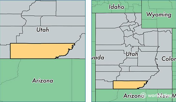 Kane County Utah Map Of Kane County UT Where Is Kane County - Utah in us map