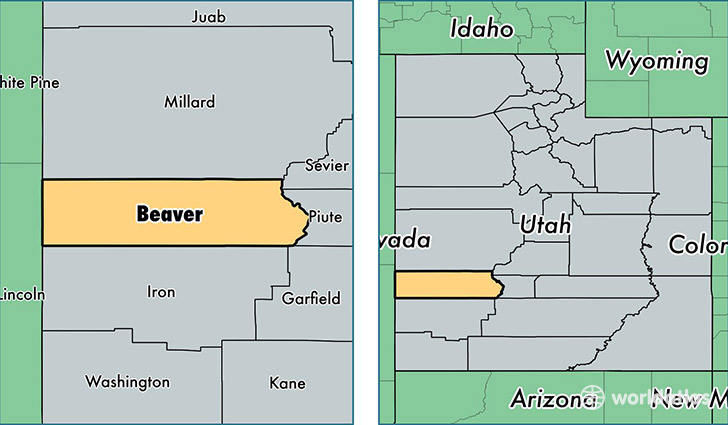 Beaver County, Utah / Map of Beaver County, UT / Where is Beaver