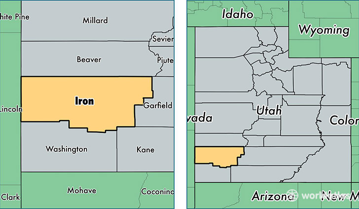 County Utah Map.Iron County Utah Map Of Iron County Ut Where Is Iron County