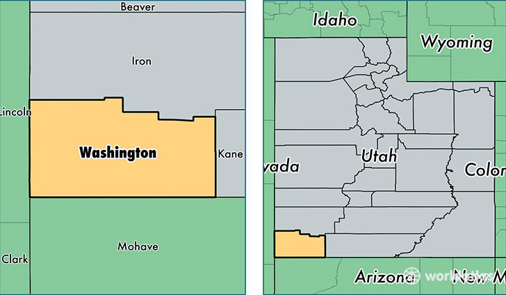 County Utah Map.Washington County Utah Map Of Washington County Ut Where Is