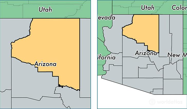 Coconino County, Arizona / Map of Coconino County, AZ / Where is