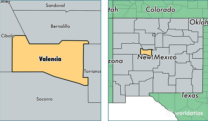 Valencia County New Mexico Map of Valencia County NM Where is