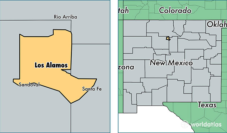 location of Los Alamos county on a map
