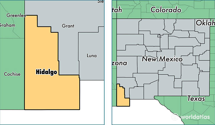 Hidalgo County New Mexico Map Of Hidalgo County Nm Where Is