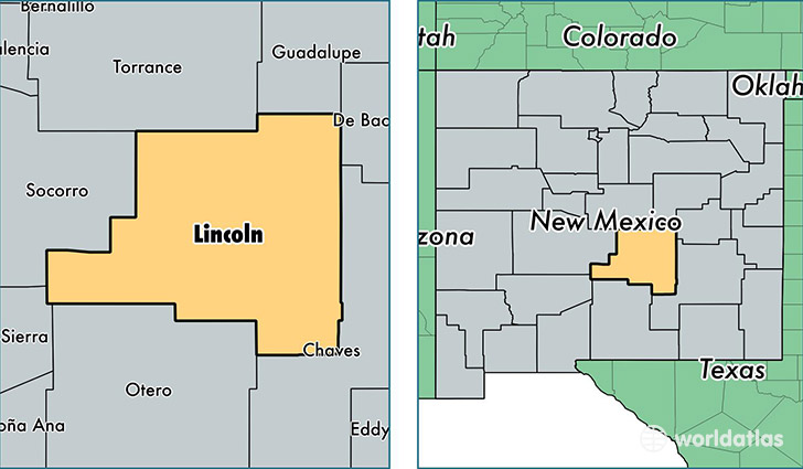 Lincoln County New Mexico  Map of Lincoln County NM  Where is