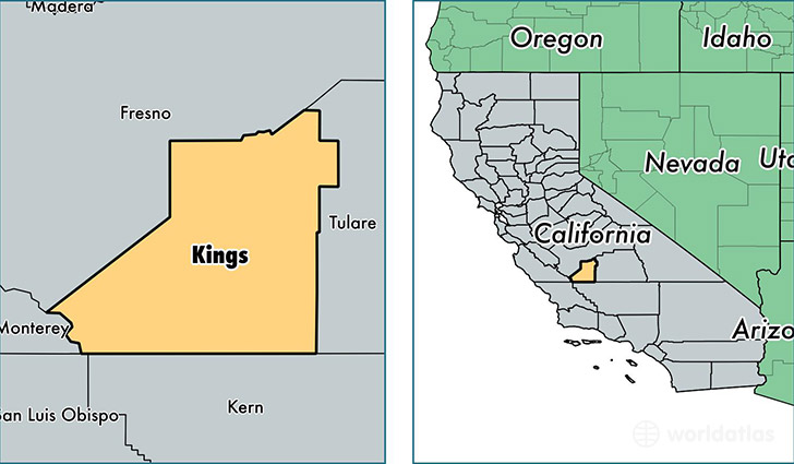 Kings County, California / Map of Kings County, CA / Where is Kings ...