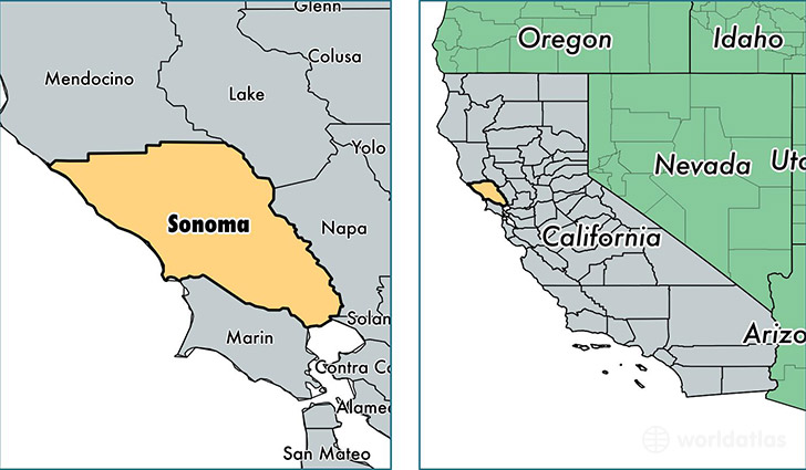 Sonoma County California Map Of Sonoma County CA Where Is - Ca map usa