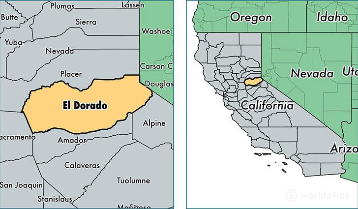 El Dorado County California Map Of El Dorado County CA Where - County map of california