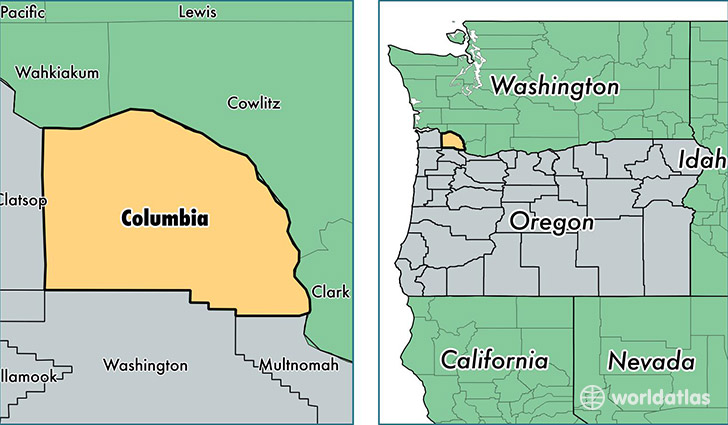 Columbia County, Oregon / Map of Columbia County, OR / Where ...