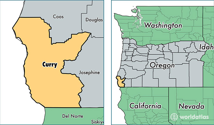 location of Curry county on a map