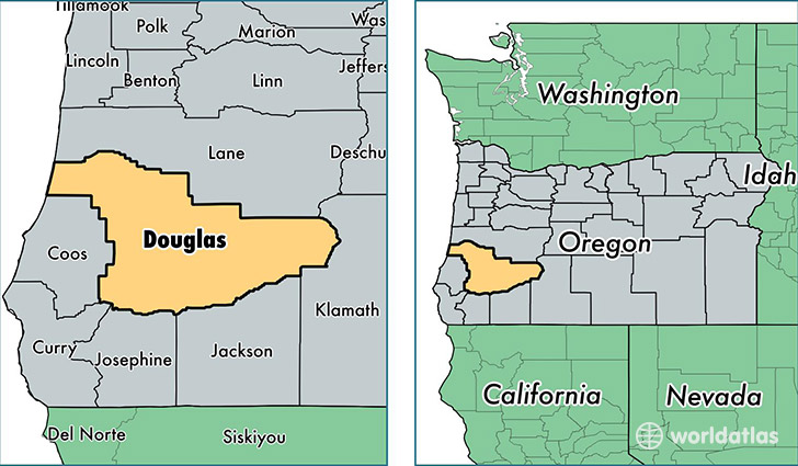 Douglas County, Oregon / Map of Douglas County, OR / Where is