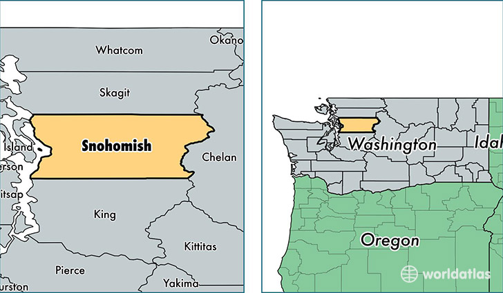 location of Snohomish county on a map
