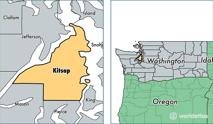 location of Kitsap county on a map