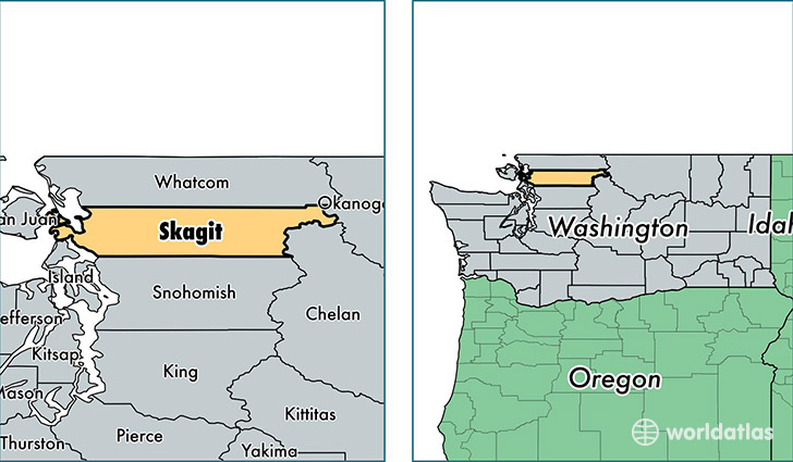 location of Skagit county on a map