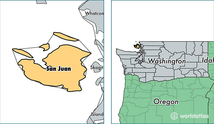 location of San Juan county on a map