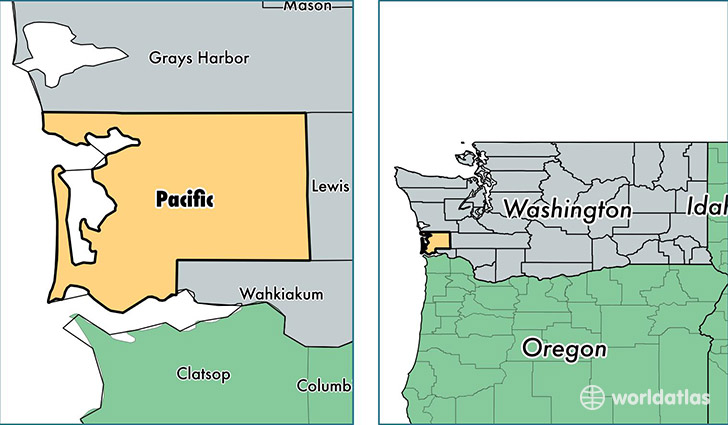location of Pacific county on a map