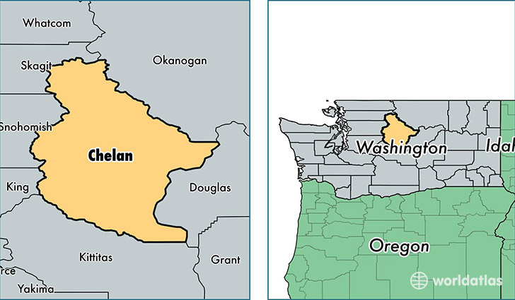 Chelan Washington Map on
