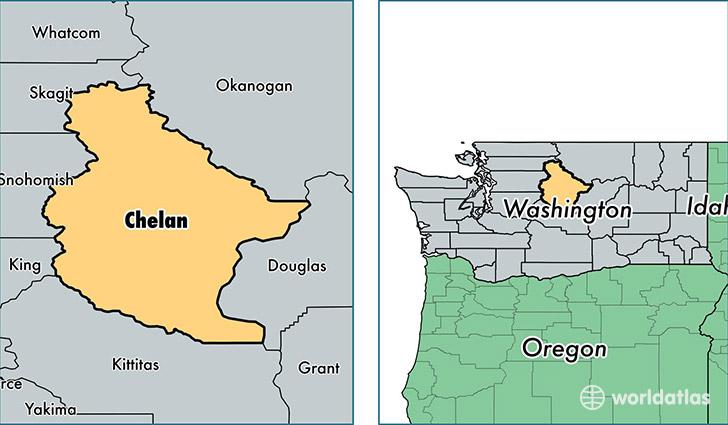 Chelan County Washington Map of Chelan County WA Where is
