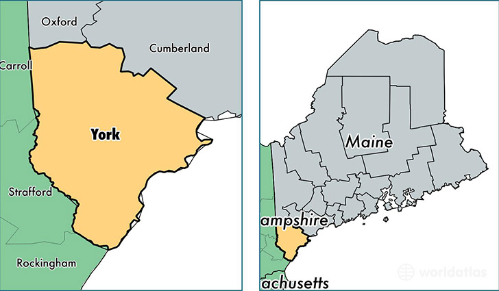 location of York county on a map