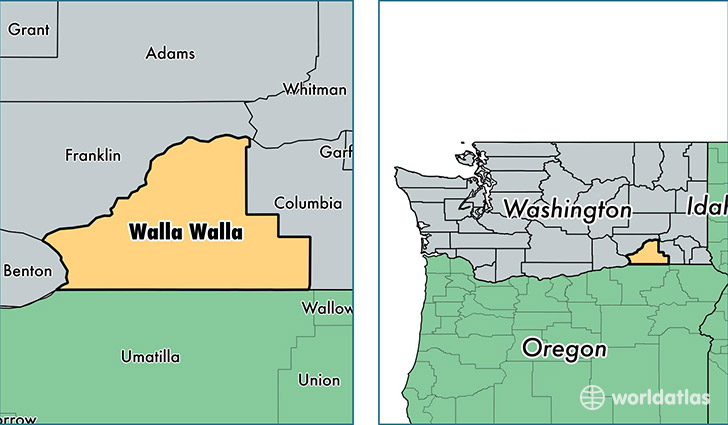 Walla Walla Washington Map Walla Walla County, Washington / Map of Walla Walla County, WA  Walla Walla Washington Map