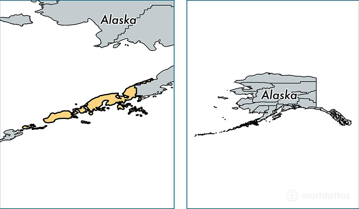 location of Aleutians East county on a map