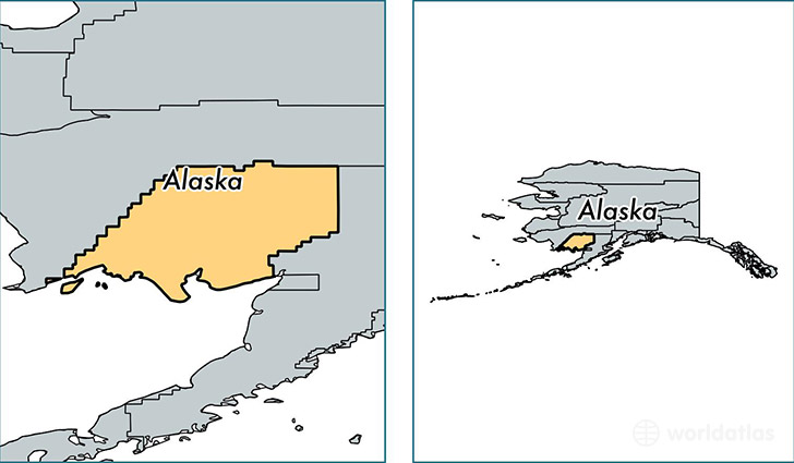 location of Dillingham county on a map