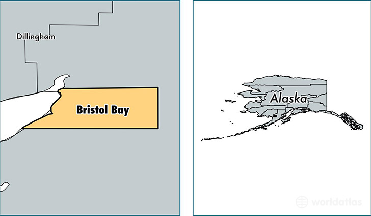 location of Bristol Bay county on a map