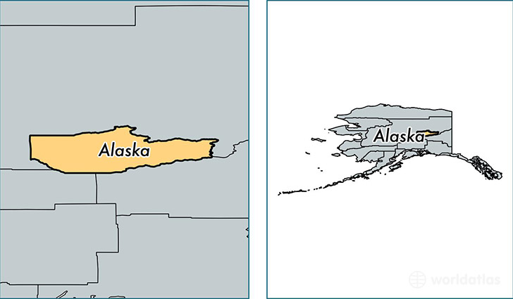 location of Fairbanks North Star county on a map
