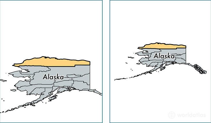 location of North Slope county on a map