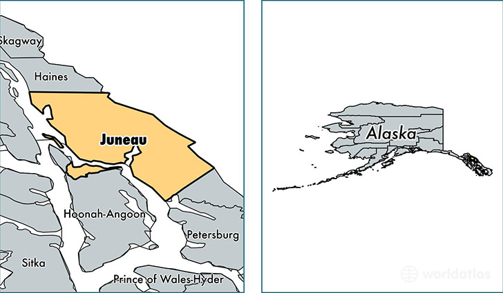 location of Juneau county on a map