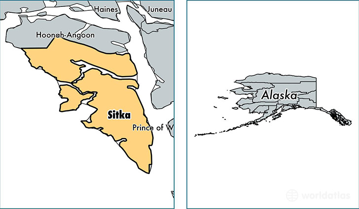 location of Sitka county on a map
