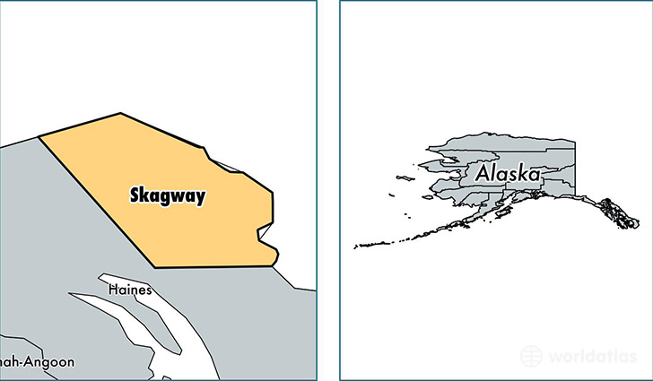 location of Skagway county on a map