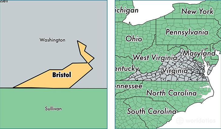 location of Bristol county on a map