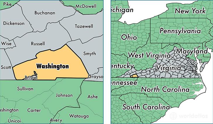 Washington County Virginia Map of Washington County VA Where